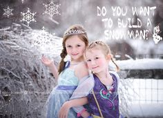 FROZEN (Disney) - Anna and Elsa Photographer: ABL Photography (Aimee B Lefever)  Styled Session to be used as Valentine's Day card
