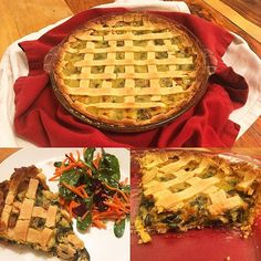 Tourte aux épinards algérienne :) Algerian Pie Yum!!! 😍 All is left is the picture. We ate it so fast! haha  #tourte #epinards #organic #organicfood #algerian #pie #einkorn #einkornflour #organicchicken #organicsalad #bechamel #spinach #onion #garlic #intuitiveeating ❤