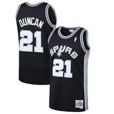 aea71fde2 Tim Duncan San Antonio Spurs Mitchell   Ness 1998-99 Hardwood Classics Swingman  Jersey -
