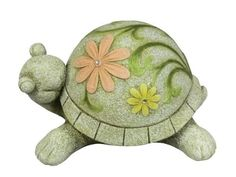 Napco 6-1/2-Inch Tall Flower Turtle by Napco. Save 6 Off!. $35.57. 8-1/2-inch by 10-3/4-inch by 6-1/2-inch. Spruce up your lawn, garden, deck or patio with this decorative ornamental statuette. Made of quality resin for durability and long lasting beauty indoors or out. Stone-look turtle with pastel floral print on his shell. Perfect for indoor or outdoor use. Napco has built a uniquely innovative in-house design team. We not only design our own quality gift and outdoor decor ...