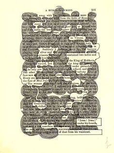 'A Humument' by Tom Phillips. The art of playing hide-and-seek with printed words via @jubaloo_