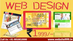 #Website999 helps to create your #web identity in just rupees 1999, We provides innovative & #quality based #web_design services,#domain_registration & #hosting. See more @ http://website999.in/