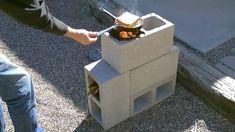 rocket stove off-grid cinder blocks