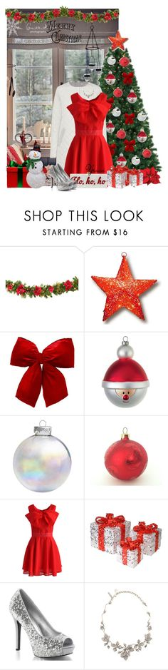 """""""~ 💕 Merry Christmas 💕 ~"""" by pretty-fashion-designs ❤ liked on Polyvore featuring National Tree Company, Alessi, Chicwish, Edie Parker, Oscar de la Renta and Candy Cane Lane"""