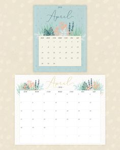 April Calender, April Calendar Printable, Free Calender, Flip Calendar, Print Calendar, Calendar Pages, 2019 Calendar, Calendar Design, Printable Calendars