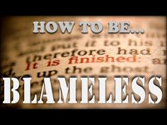 How to be Blameless | How to Be Qodesh - YouTube