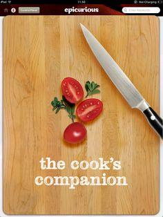 Epicurious Recipes & Shopping List iPad App - Clickable Demo