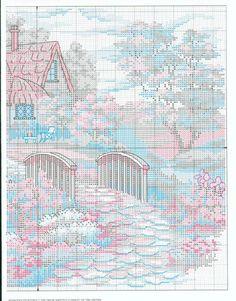 Schema punto croce Charming Cottage 03