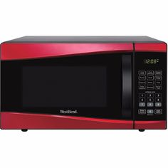 Microwave Oven 0.9-cu. ft. 900-Watt 11 Power Levels Child Safety Lock New Red #WestBend