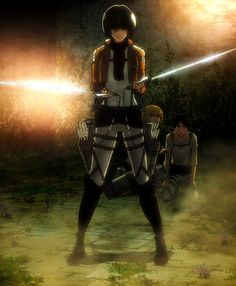 Mikasa when she is angry