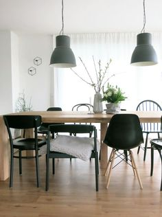 … at the flea market I found two old bentwood chairs (behind second … – Modern Apartment Decoration Ideas