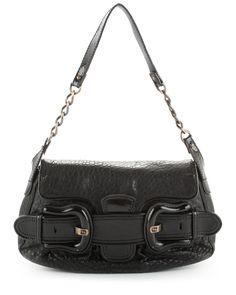 FENDI Black Leather B Bag