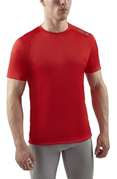 Sub Sports Men's Heat Stay Cool Short Sleeve Tech T-Shirt - Red, Large