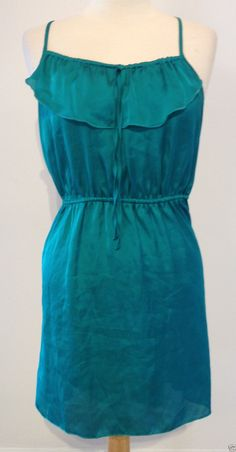 Xhilaration Juniors Teal Green Sleeveless Summer Casual Tunic Dress Large | eBay - Recycled Couture #Fashion #Apparel #Shopping #eBay
