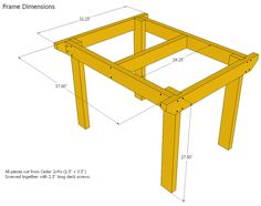 Patio Table Woodworking Plans Free | Search Results | DIY ...