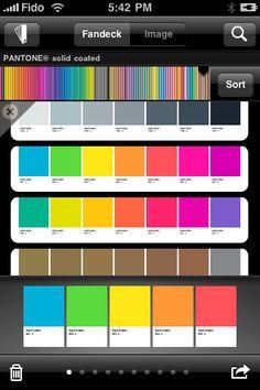 Pantone app for iPhone
