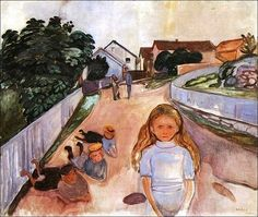 Edvard Munch, Street in Asgardstrand
