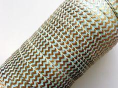 5/8″ Aqua Gold Chevron FOE