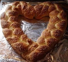 Delicious bread shaped like a heart perfect for Valentine celebrations. Make a sandwich from it like I did!