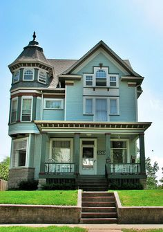 Victorian Home with Tower by buyamac, via Flickr