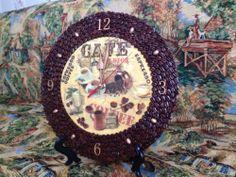 Декупаж - Сайт любителей декупажа - DCPG.RU | Кофейные часы для кофемана decoupage art craft handmade home decor DIY do it yourself clock cafe coffee
