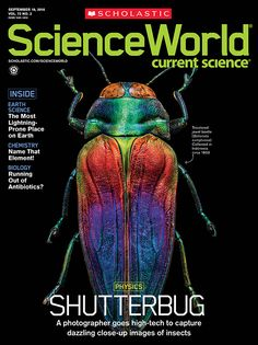 Check out #ScienceWorld magazine's story about a photographer who has developed a whole new way of taking GIANT photos of tiny insects.    Download the article here!