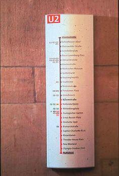 BVG Signage, Wayfinding and Identity system. MetaDesign. Erik Spiekermann