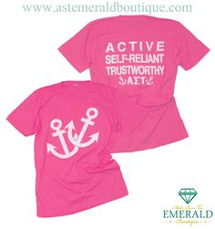 What's not to love about this Alpha Sigma Tau Pink Anchor Custom Group Order Design?! Start your own design with us today!