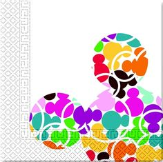 Mickey Colourful, Lautasliinat, 20 kpl