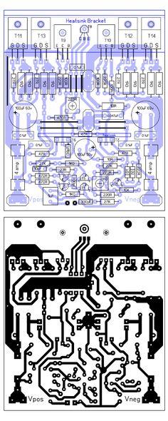 Eletrônica Campo Elétrico : Amplificador 200W Best Subwoofer, Circuit Board Design, Hifi Amplifier, Electronics Projects, Layout, Audio Amplifier, Printed Circuit Board, Electrical Projects, Electronic Circuit