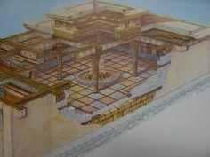 Throne room at Mykenai, by artist Evangelos Olympios