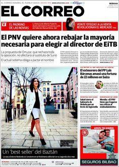Los Titulares y Portadas de Noticias Destacadas Españolas del 17 de Enero de 2013 del Diario El Correo ¿Que le parecio esta Portada de este Diario Español?