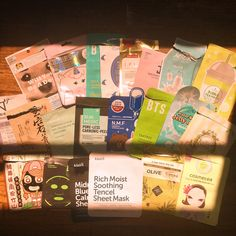oh sheet! those are a lot of masks you got there  . . . Finally after months and months of hoarding empty sheet masks Ive got my first sheet mask empties post! I dont sheet mask daily or even every week at that so Ive accumulated these since like June  here are my top faves from the bunch:  @annieswayofficialtaiwan bubble tea mask green tea - super thin essence is watery I loved it for when days were hot & humid.  @klairs.global midnight blue calming mask - this felt soooo good you dont even…