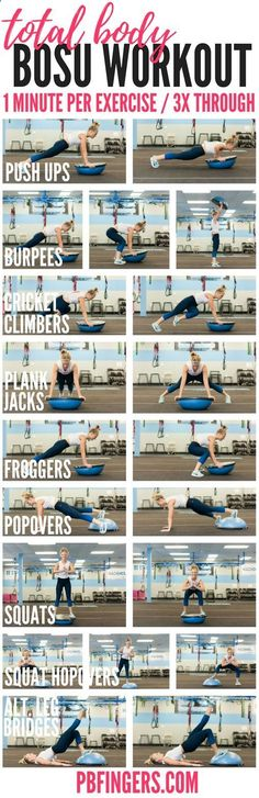 Easy Yoga Workout - Total Body Bosu Workout Get your sexiest body ever without,crunches,cardio,or ever setting foot in a gym