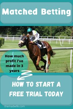 Matched betting for beginngers. How in made over £30,000 using Oddsmonkey matched betting service. Matched betting free trial. #matchedbetting #sidehustle #taxfree #moneyfromhome Free Cash, Tax Free, Matched Betting, Starting School, Casino Bonus, Money From Home, Book Making, Horse Racing, Trials