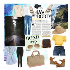 """""""road trip"""" by hmoua82 on Polyvore featuring LE3NO, Michael Kors, Burke Decor, Post-It, Ray-Ban, Tommy Bahama, Louis Vuitton, Nordstrom, Topshop and American Vintage"""