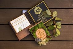 These are my invites! Invitations and save the dates for an earthy, rustic elegance, enchanted forest wedding. Natural Elegance in Napa on Borrowed & Blue. Photo Credit: Lily Rose Photography