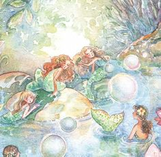 art by becky kelly images   becky kelly: Fairies and Mermaids Give Away~