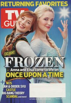 OUAT is going to blow up in popularity, which is awesome. But so many people are going to be just utterly confused at everything going on! Lol| Anna & Elsa - TV Guide Cover Feature