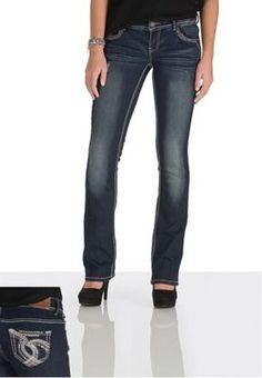 Denim Flex ™ Dark Wash Embellished Jeans (original price, $39.00) available at #Maurices