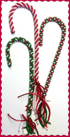 Candy Cane Brights - weave over wire