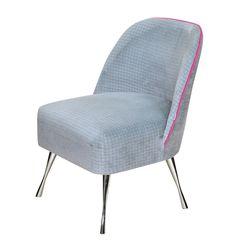 Fotel / Krzesło Twiggy lamówka pink