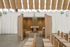 The Transitional 'cardboard' Cathedral design by Shigeru Ban