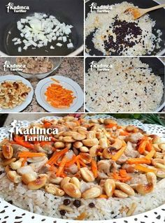 Saray Pilavı Recipe, How To? – Feminine Recipes – Delicious, Practical and Most Exquisite Recipes Site - Schnell Turkish Kitchen, Food Articles, Recipe Sites, Iftar, Turkish Recipes, Diet And Nutrition, Bon Appetit, Meat Recipes, Food And Drink