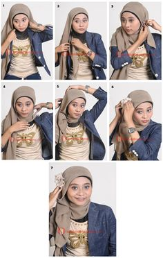 square hijab tutorial