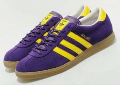 For the Ques - Adidas Originals Malmo - Purple / Lemon / Gum Adidas Zx, Adidas Samba, Adidas Superstar Vintage, Vintage Adidas, Adidas Classic Shoes, Adidas Casual Shoes, Adidas Sneakers, Shoes Sneakers, Shoes
