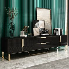 Aro Modern Stylish White / Black TV Stand Rectangle TV Stand TV Console with Drawers & Doors Media Console for TVs Up To tv stand decor, Black And White Tv Stand, White Tv Stands, Stands Tv, Console Tv, Black Tv Console, Tv Console Design, Tv Credenza, Sideboard, Tv Stand With Drawers