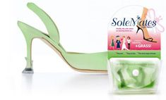 Sole Mates.- Stops your heels from slipping through grates and into grass
