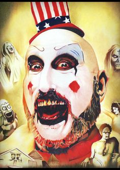 Captain Spaulding in House of 1000 Corpses. that movie! Best Horror Movies, Horror Films, Horror Art, Good Movies, Clown Horror, Horror Icons, Awesome Movies, Zombie Music, Zombie Movies