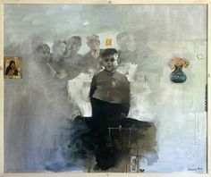 """Yiannis Adamakis """"Sundays' noon"""" acrylics on canvas Brought bitter-sweet memories from a time long gone.."""